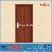 JK-P9022 pvc salle de bain moderne porte intérieure