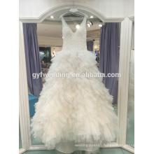 2017 new gorgeous harness deep V sexy three-dimensional level poncho small tail wedding LJ-20034