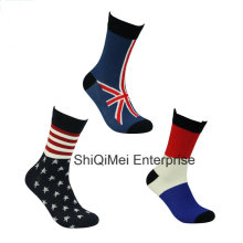 Professional Factory Supply Country Flag Cotton Socks