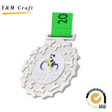 Silber-Zink-Legierung Award Medal Custom Ym1172