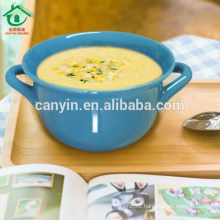 Simple Style Restaurant And Hotel Blue Ceramic clay pot cooking