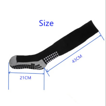 Wholesale custom anti slip knee high football soccer grip socks