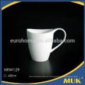 Eurohome nuevos productos venta de línea aérea pura leche de cerámica blanca taza