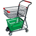 CE & ISO approved 2-tier shopping cart for supermarket
