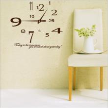 Horloge Papier Peint Impression Personnalisée Horloge Décoration Murale