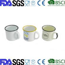 6cm 8cm 10cm Cookware Enamelware porcelain Enamel Coffee Mug Cup
