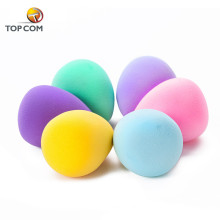 Customized egg shaped cosmetic powder color mini puff makeup sponge