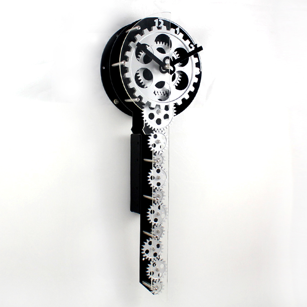 Key-shape Gear Wall Clock