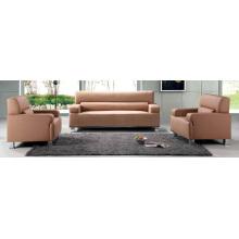 Meubles d'hôtel 1 + 1 + 3 meubles en cuir de salle d'attente ensembles confortables de sofa