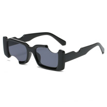 New Personalized Sunglasses Glasses with Irregular Edge Square Frame