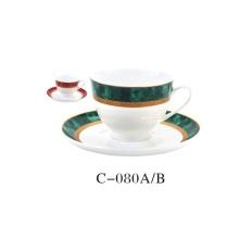 Árabe, cerâmico, café, copo, jogo