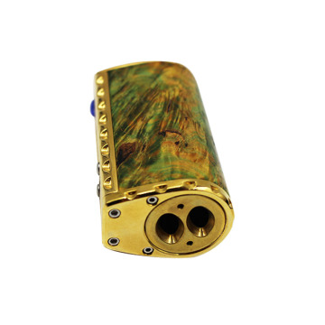 Mod 510 thread Stabilized Wood Bahan Stainless Steel Box Mod 75W Stabilized Wood TC Vape dukungan