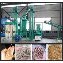 Usine de ligne de granulés de bois de 0,8-1 tonne / heure