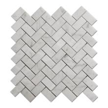 China Factory Carrara Marble Mosaic Bathroom Herringbone Marble Mosaic