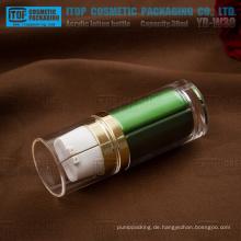YB-W30 30ml (15 ml x 2) Zylinder runden guten Qualität für Tag/Nacht Lotion dicken Acryl dual Kammer-Kunststoff-Flasche