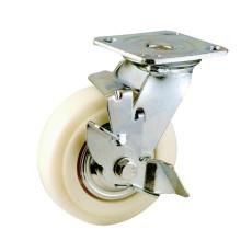 H8 Тяжелый тип двойного шарикового подшипника Боковой тормозной механизм PP Caster