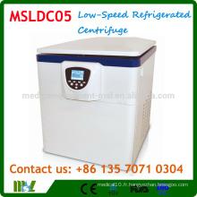 MSLDC05 Type vertical Centrifugeuse frigorifique à faible vitesse / Machine à centrifuger frigorifique au sol