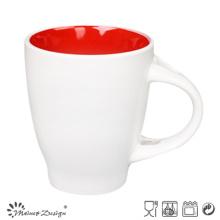 Outside White Inside Color Glaze 12oz Coffee Mug