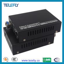 LC 10/100/1000m Fiber Optic Transceiver
