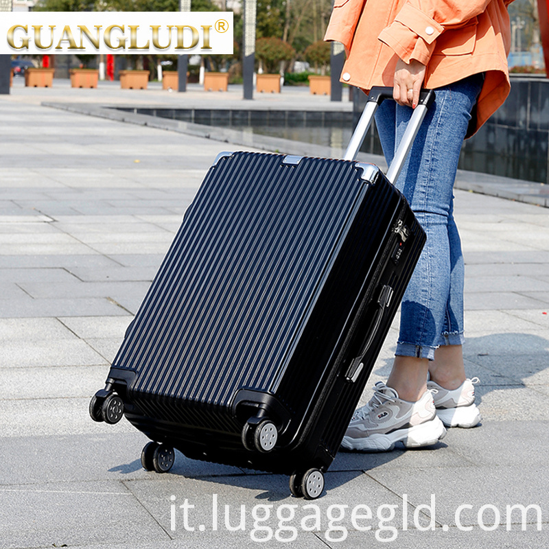 Smart luggage set trolley