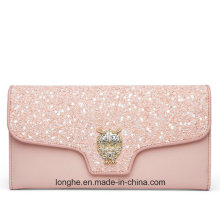 Hot Selling Ladies Evening Clutch Pink Shiny Wallet (ZX10161)