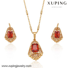 63369 Xuping fashion new designed gold plated women set jewelry with many stone
