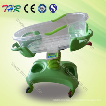 with Temperature and Music Function Tiltable Baby Bassinet Cart