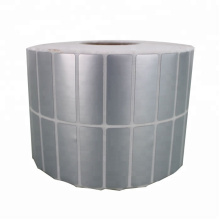 Термоклеящаяся этикеточная этикетка из термопечатающегося матового серебра с синтетическим ПЭТ