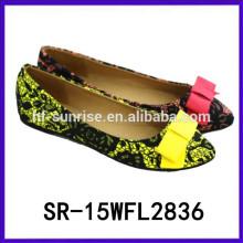 2015 zapatos planos desechables vendedores calientes de los zapatos de las muchachas el nuevo calza los zapatos planos