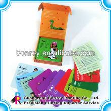 Impresión de tarjetas educativas de papel para niños
