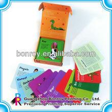 imprimindo cartões flash de papel educacionais das crianças