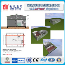 Construction Design Steel Structure Warehouse Steel Structure Two Story Building