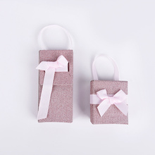 Multi-fungsional Two Piece Pink Bow Paper Gift Box