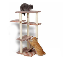 High Quality Large Wooden Cat Tree Scratcher Climbing Tower Fashion Cat Tree House