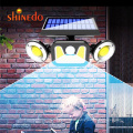Waterproof Outdoor Motion Sensor Waterproof Wall Lamp, 100 Led Garden Sensor Solar Light