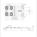 4 * M12 5-полюсный кабель пресс-формы PNP
