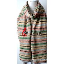 Acrylic Knitted Shawl (12-BR201812-20)