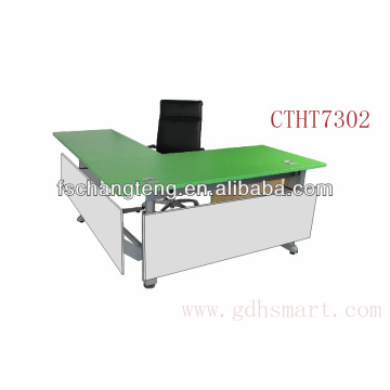 Tirana & Durres & Vlore L shape height adjustable office table by manual