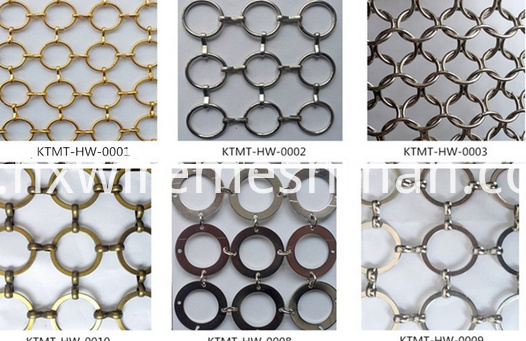 metal ring curtain
