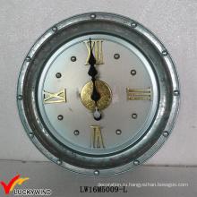 Металлические большие круглые старинные французские старинные настенные часы