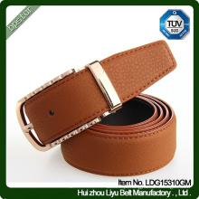 2016 Moda Mens Francês Real Leather Full Grain Metal Pin Buckle Cinto / cintos de couro cinto de couro para homens