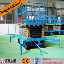 12 m proveedor de china CE barato móvil bomba de pie plataforma de tijera plataforma de tijera plataforma de tijera