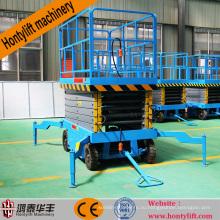 12 м Китай Поставщик CE дешевые мобильные гидравлические ножной насос ножничный подъемник стол платформа ножничный подъемник