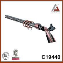 C19440 home decor curtain rod accessories,fancy curtain rod finials,curtain rod factory