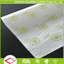 Papel de sándwich de hamburguesa de papel a prueba de grasa impreso seguro de alimentos