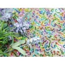 """POLY MESH WITH 3MM MTLIC COLOR SEQUIN EMBD 50/52"""""""