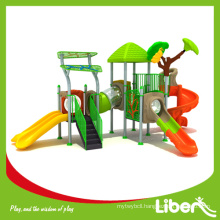 Eco-friendly Kids Adventure Playground Equipment with Multiple Slides