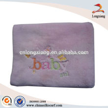 Cellular Embroidery Cotton Baby Blankets Wholesale