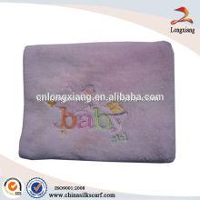 Cellular Embroidery Cotton Baby Blankets Atacado