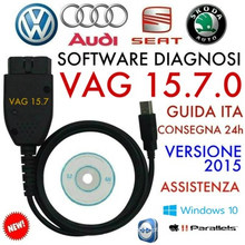 VAG C-O-M 15.7.1 16,8 mais novo cabo diagnóstico Hex pode cabo USB para VW Audi Skoda assento inglês Alemanha 15.7.0
